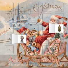Santa's Sleigh Advent Calendar #Christmas #Past Times