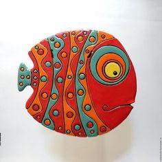 Керамическое панно «Рыба»
