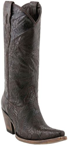 M5710-S53F Lucchese Women's Cow Western Boots - Alpina Cafe