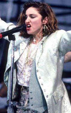 Madonna at Live Aid FULL OF ATTITUDE AND STYLE