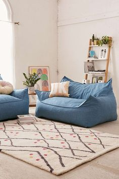 Larson Soft Loveseat at Urban Outfitters for random seating in bonus room Living Room Furniture, Living Room Decor, Home Furniture, Living Spaces, Rustic Furniture, Outdoor Furniture, Kid Spaces, Furniture Projects, Design Room