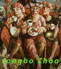 Die Ausstellung von Yongbo Zhao im museum of art.