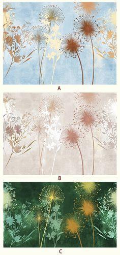 Sfondi estate Dandelion Poetsie fiore foglia murale