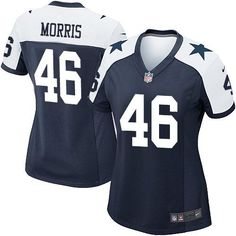 cb7f1f64aa3 ... Nike Cowboys 46 Alfred Morris Navy Blue Thanksgiving Womens Stitched  NFL Throwback Elite Jersey ...