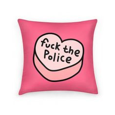 FUCK THE POLICE PILLOW ($26) ❤ liked on Polyvore featuring home, home decor and throw pillows
