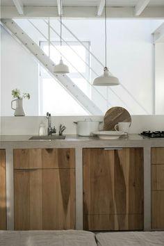 Keuken hout/beton