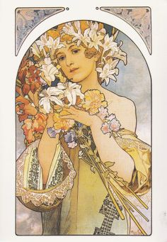 "Alfons Mucha. ""La Fleur"", 1897."
