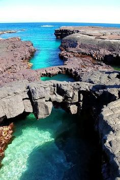Bridges Over Sea, Santiago Island, Galapagos