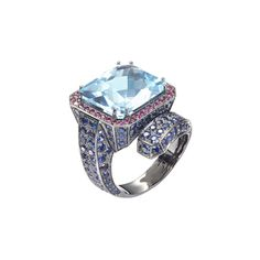 """Vernissage"" Blue Topaz Cocktail Ring - Shop Fine Jewelry Online | Plukka"