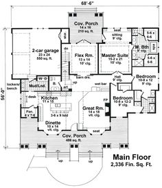 I love this floor plan! I love that you walk into the kitchen and great room. I would just add a guest bedroom and storage space in the bonus room upstairs.