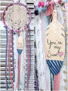 Sweetheart Dream Catcher by HartLaneShop on Etsy, $32.00