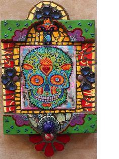 Dia de los Muertos inspired retablo by Susanne Baca