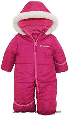ff155fe6c Baby Girl Clothes Pink Platinum Baby Girls One Piece Warm Winter Puffer  Snowsuit Pram Bunting,
