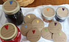 Moore Minutes: Rainbow Heart Valentines, Strawberry Shortcake Jars, and a coupon for YOU from Mud and Twig on etsy!