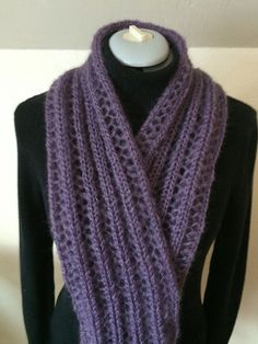 Ravelry: beebell's Ladder Lace Mohair Scarf; made on knitting machine