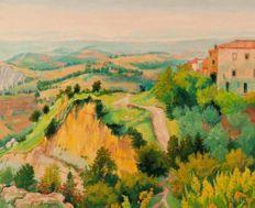 Giordano Felice (1880-1964). Terrazzo fiorito | Paintings ...
