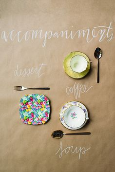 formal place settings guide...the accompaniments