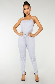 46b39d6b6066 Hang Out Jumpsuit - Heather Grey