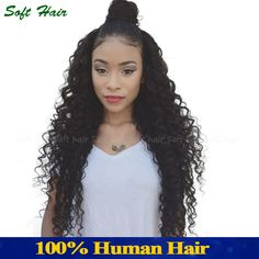 (138.00$)  Buy here - http://aixff.worlditems.win/all/product.php?id=32769638315 - Soft Deep Curly Brazilian Hair 4 Bundles Brazilian Deep Wave Curly Weave Human Hair Bundles 1B No Shed Deep Wave Brazilian Hair