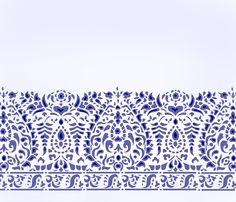 Lace Border and Corner Stencil - Henny Donovan Motif Stencil Patterns, Stencil Designs, Textile Patterns, Stencil Wall Art, Stencils, Border Design, Pattern Design, Border Embroidery, Embroidery Motifs