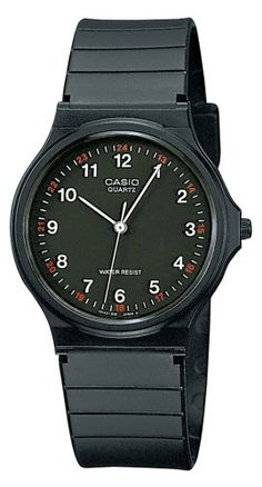 CASIO Collection MQ-24-1BLLGF - Reloj unisex de cuarzo, correa de resina color negro