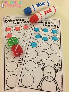Reindeer Games is a fun interactive activity to keep kids learning right until winter break. Download the free game on her blog.