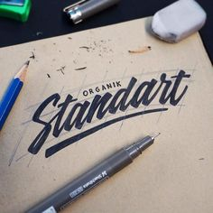 Awesome rhythm in this script by @riskarbi | #typegang if you would like to be featured | typegang.com | typegang.com #typegang #typography