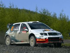 Skoda Fabia WRC rally car (Colin McRae)