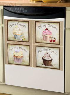 Cupcake Kitchen Decorative Dishwasher Cover