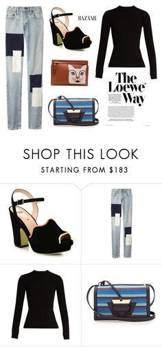 """""""Casual Look"""" by dreammints ❤ liked on Polyvore featuring Loewe, Fendi, Simon Miller, casual, denim, scalloped and blinddate"""