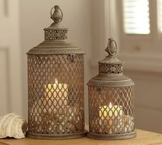 Lynden Lanterns | Pottery Barn - inside the house?