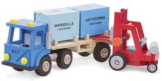 New Classic Toys - Truck with 2 containers