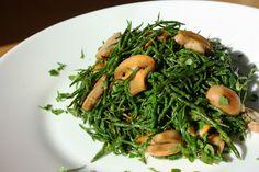 Salt&Spatula: Sauteed Sea Bean and Mushrooms