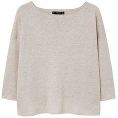Mango Linen Sweatshirt, Light Pastel Grey (55 CAD) ❤ liked on Polyvore featuring tops, hoodies, sweatshirts, mango sweatshirt, oversized sweatshirt, oversized grey sweatshirt, lightweight sweatshirts and pastel tops
