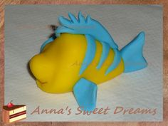 STEP BY STEP gumpaste Little Mermaid, Sebastian,  Flounder