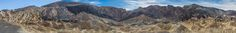 Twenty Mule Team Canyon - A panoramic view of Twenty Mule Team Canyon in Death Valley. Believe it or not, there are seventeen naked women and 34 kittens hidden in this image. Can you find them all? Seriously, though, the twenty mule teams were actually composed of eighteen mules and two horses, hitched nearest the wagon, to get the 7,800 lb wagons started.
