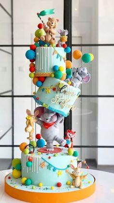 Baby Girl Birthday Cake, Unique Birthday Cakes, Beautiful Birthday Cakes, First Birthday Cakes, Designer Birthday Cakes, Cake Decorating Designs, Cake Decorating Techniques, Cake Designs, Gravity Cake