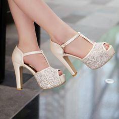 b74c2dd4a7b9a High-Heeled+Sandals+Fish+Head+High+Heels+Q-
