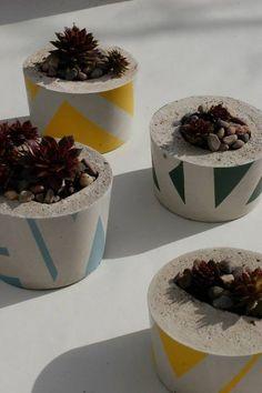 ail+el concrete planters