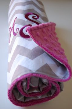 Baby Blanket with Monogram or Name Design Your by BabyMaeBoutique, $40.00