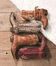 Shop cowgirl boot brands like Shyanne and Corral at Boot Barn.
