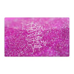 Kess InHouse Beth Engel 'Born with Glitter' Pink Sparkle Artistic Magnet