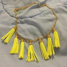 Yellow fringe necklace Yellow fringe necklace Jewelry Necklaces