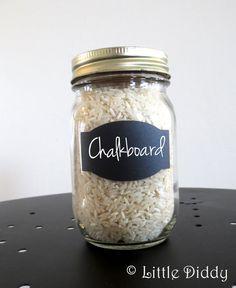 Chalkboard Vinyl Labels -105  labels - Mason Jars, Glasses, Wedding - FREE CHALK MARKER via Etsy