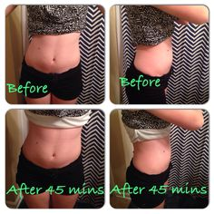 I wrapped a friend of mine, here are her results of using our Ultimate Body Applicator after 45 minutes! Contact me today!