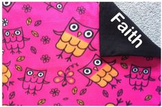 New to Sewdivine77 on Etsy: Owl double layered fleece blanket/throw (55.00 USD)