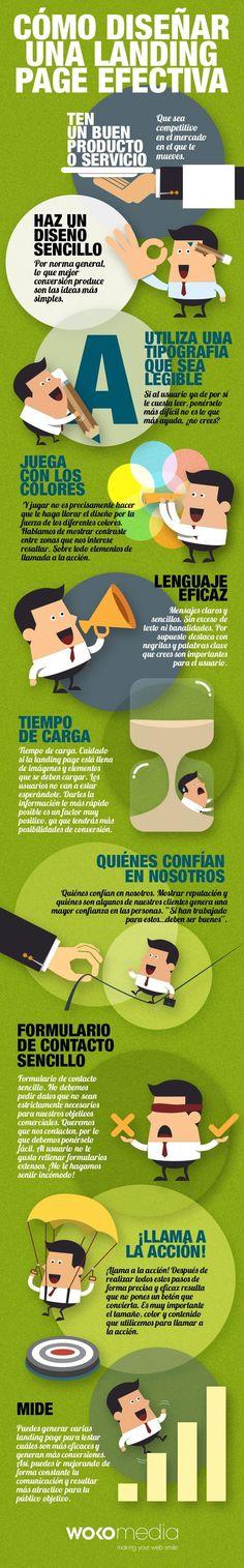 Consejos Para Crear Una Página De Aterrizaje Efectiva Infografia - #DKSignMT