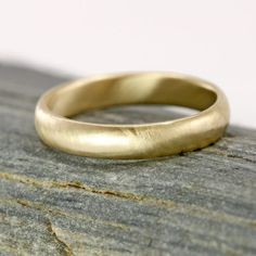 Solid 14k Gold Mens Wedding Band Men's Ring 14k by ScarlettJewelry, $595.00