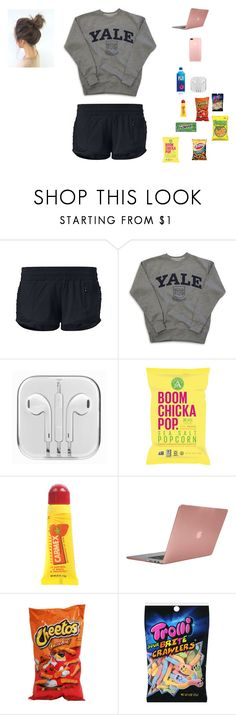 """""""Lazy day"""" by statice-pearl ❤ liked on Polyvore featuring lululemon, Carmex and Incase"""
