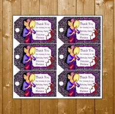 Mulan Favor Tags Mulan Birthday Party Favor by KidsPartySuppliesPL